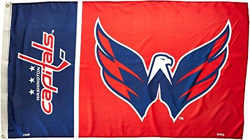 Fremont Die NHL Boston Bruins Flagge mit Ösen, Washington Capitals 3 Ft. X 5 Ft. Flag W/Grommetts, Logo, 3 x 5-Foot -