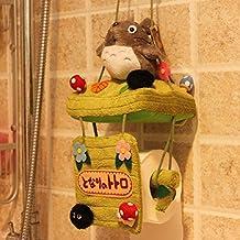 SKL portarrollos de diseño único de Totoro, soporte para papel de baño higiénico, decoración de peluche
