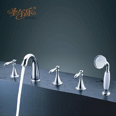 SepNte Horn-Style 5 Pezzo tutti Cooper vasca bagno diviso il rubinetto