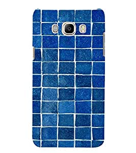 Blue Bricks Pattern 3D Hard Polycarbonate Designer Back Case Cover for Samsung Galaxy J7 (6) 2016 Edition :: Samsung Galaxy J7 (2016) Duos :: Samsung Galaxy J7 2016 J710F J710FN J710M J710H
