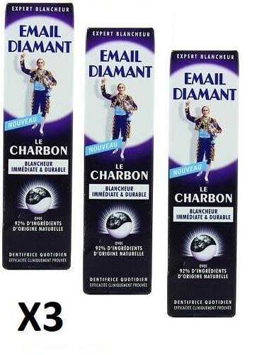 3 X EMAIL DIAMANT- DENTIFRICIO LE CHARBON 75ML