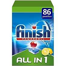 Finish Todo en 1 Original Lavavajilllas Limón - 86 pastillas