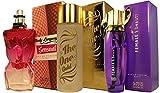 Perfumes Para Mujer (Set de 3 unidades individuales) Formulados en Francia 100ml Regalos de Primera Calidad de lujo al mejor precio.