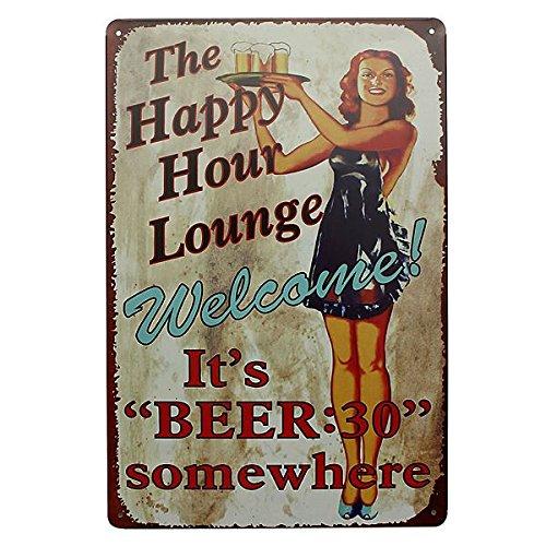Lounge birra Targa in metallo metallo dell'annata Plaque Bar Bar casa della decorazione della