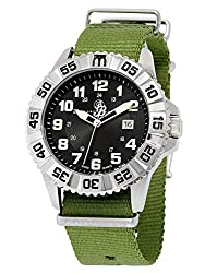 Brooklyn Essex Canvas Army Swiss Quartz Watch 303-M1294