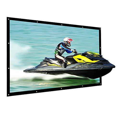 Projektionsleinwand 120 Zoll NIERBO Beamer Leinwand für Heimkino LCD LED DLP Beamer Leinwand 16 9 3D Full HD | 273x157cm