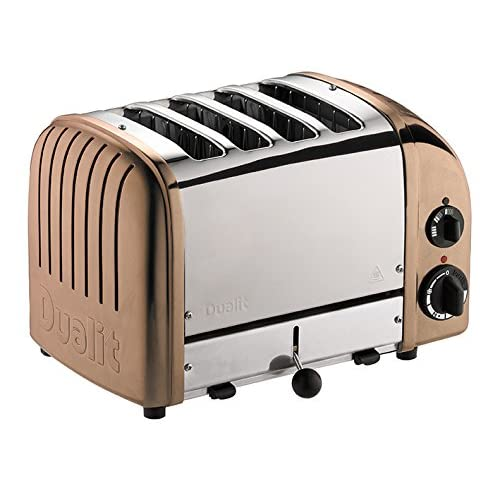 51d63cOk 5L. SS500  - Dualit Classic 4 Slice Vario Toaster - Stainless Steel, Hand Built-In The UK - Replaceable ProHeat elements - Heat Two…