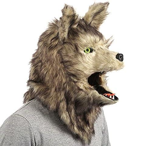 CoolChange realistische Voll Tier Maske, Wolf