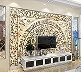 Fototapete 3D Effekt Tapete Die Keramische Kachel Mosaik Wand Marmor Vliestapete 3D Wallpaper Moderne Wanddeko Wandbilder