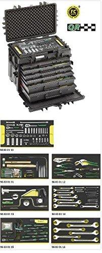 Stahlwille AOG-Kit für Flugzeuge im Werkzeug-Trolley Nummer13217, zöllig, 13224A WT/TS