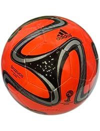 adidas Brazuca Glider Balón de fútbol, WM 2014, Warning de fútbol Rojo/Negro