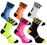 Brinny Lot de 6 paires Chaussettes de Randonnée Trekking Hommes Femmes Chaussettes Running Sport Socks pour Fitness Yoga Course Velo Cyclisme Basketball - L
