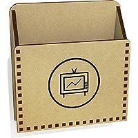 Azeeda 'TV In Circle' Wooden Letter Holder/Box (LH00034186)