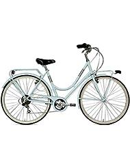 Vertek Londra - Bicicleta de paseo de mujer (26'', 6 marchas), color azul