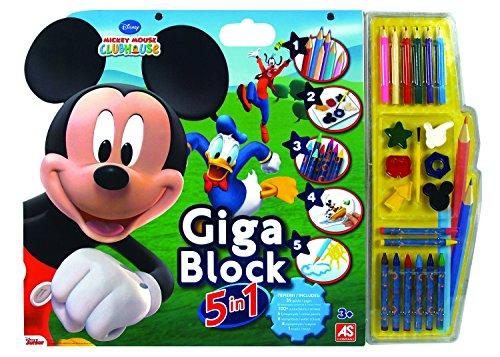 Rocco Giocattoli 1023-62686 - Giga Blocks 5 in 1 Mickey Mouse