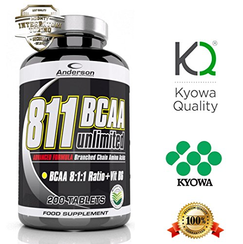Integratore Anderson Kyowa new 811 (100 cpr) aminoacidi ramificati Bcaa rapporto 8:1:1 con Vitamina B6 Advanced Formula