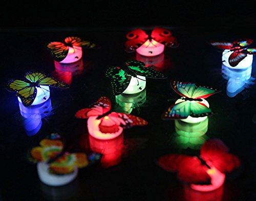 Colorful 3D Farfalla LED Luminosa Adesivo Murale Adesivi Murali Smontabili DIY-Art Decor Artigianato Farfalla per La Decorazione Domestica Camera dei Bambini Arredamento Camera da Letto
