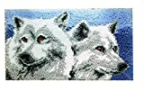 Knüpfkissen Latch Hook Kit Rug Wolf 50cm by 40cm