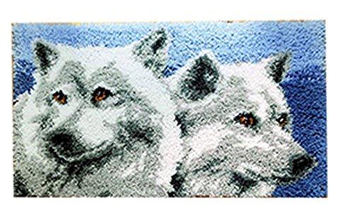 Knüpfkissen Latch Hook Kit Rug Wolf 50cm by 40cm