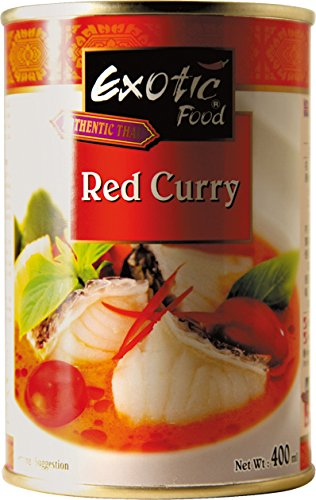 Exotic Food Rote Currysauce Fix+Fertig, 6er Pack (6 x 410 g Dose)