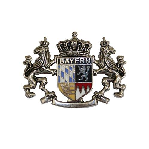 Hutanstecker | Hutabzeichen | Hutschmuck | Anstecker - Bayrisches Wappen - Handbemalt - 3 x 4 cm