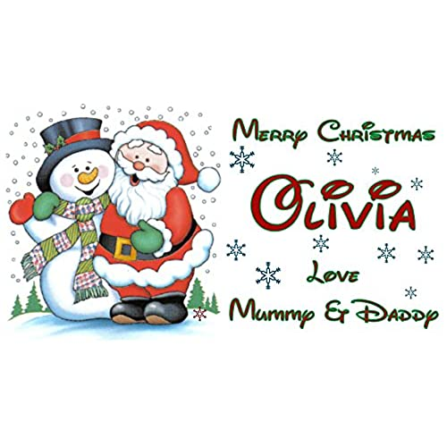 Personalised christmas stickers amazon co uk