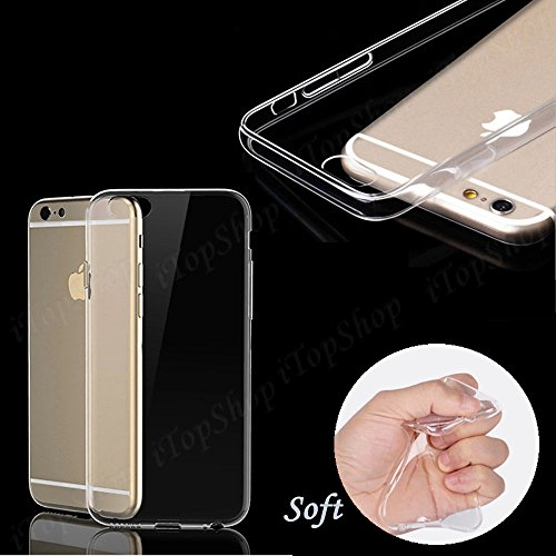 Étui @ cristal transparent étui fin en gel silicone TPU souple pour certains de Les sgti sont colorés pour iPhone 5S, transparent, iphone 5-5s Transparent