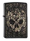 Zippo 16884 Skulls in Skull - Black Matte - Spring 2017 Feuerzeug, Chrom, Silber, 5.8 x 3.8 x 2.0 cm