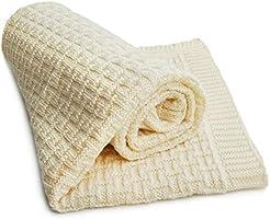 Sonnenstrick 0610563326914 Couverture douce pour bébé 100 % laine Mérinos 80 x 90 cm