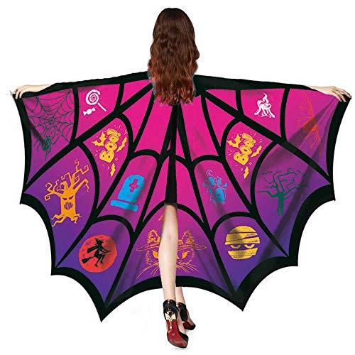 LSAltd Frauen Männer Halloween Print Bat Schal Kostümzubehör