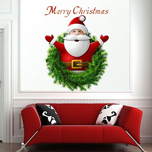 MAYOGO Minimalistisch Wandaufkleber Weihnachten Dekoration Weihnachtsmann Wand Deko Stickers Dekorierte Wohnzimmer Schlafzimmer Küche und Esszimmer 27 * - Krippe Sterne Kostüm