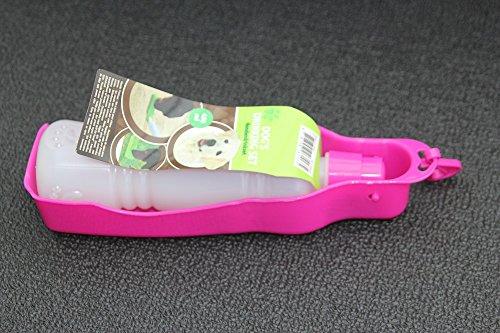 BKL1® Hundetrinkflasche Pink Trinkflasche Napf Für Hunde Wasserflasche