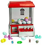 Prextex Toy Filled Electronic Claw Game With Toy Filled Eggs Toy Grabber Machine