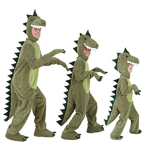 inosaurier Halloween Weihnachten mit Kapuze Kostüm Spielanzug-Overall-niedlicher Carto Anzug weiche Corduroy Kostüm für Erwachsene ()
