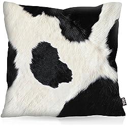 VOID Dibujo Piel de la Vaca Cojín con dibujo funda de cojín funda para outdoor indoor, Kissen Größe:40 x 40 cm