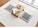 Home Verdickung Anti-Rutsch-Schlafzimmer kann Handwäsche Baumwoll-Teppich ( Farbe : Grau , größe : 180*220cm )