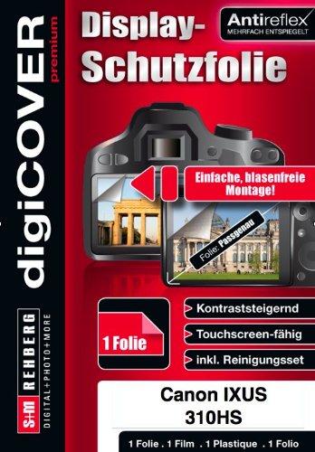 DigiCover - Pellicola protettiva antiriflesso per Canon IXUS 310 HS, colore: Trasparente