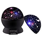 Baby Star Projector Night Light, SCOPOW Stars Night Light Projection Lamp 360 Degree Rotation 3 Lighting Mode Sky Lamp for Kids Bedroom (Black)
