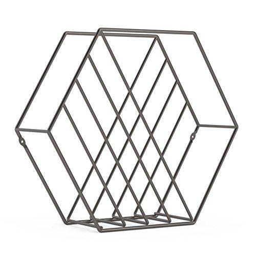 Umbra Zina ZEITSCHRIFTENSTÄNDER Metall Titan, 33 x 33 x 7 cm