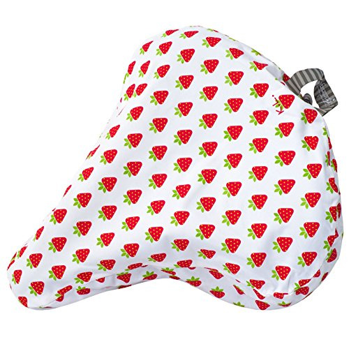 Klingeling Sattelbezug Sattel Cover Wasserdicht Design Bezug Überzug Trekking City Cruiser, KL100-SC, Design Strawberries