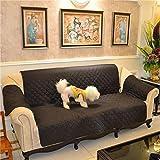 WJX&Likerr Pet-sofabezug,TPU Wasserdichte Qualität Sofakissen Couch Abdeckung Nach Hause Kinder Sofa Beschützer Sofa Handtuch Für Einen Rutschfesten Polyester und Baumwolle-Schwarz2 2-sitzer