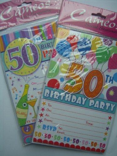 Einladungskarten zum 50. Geburtstag {Cam2012/022} 20 Blatt mit Umschlägen