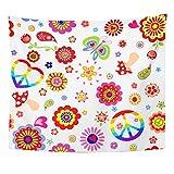 Soefipok Tapiz Mandala Decoración para el hogar Infantil con Colorido Hippie Símbolo de...
