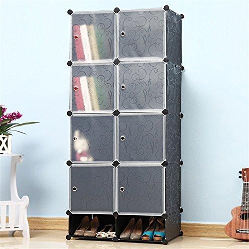 MCTECH Regalsystem Kleiderschrank DIY Schrank Garderobenschrank für Kleidung, Schuhe, Spielzeug und...