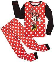 Disney Minnie Pigiama A Maniche Lunghe per Bambina E Ragazza, Pigiami in Cotone Due Pezzi 18 Mesi - 14 Anni