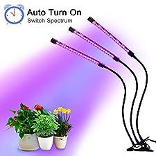 Wloomm LED-Wachstumsleuchte, verbesserte Timing-Funktion, hilft das Wachstum von Zimmerpflanzen zu beschleunigen und die Gesundheit von Pflanzen schnell zu verbessern. Die Pflanzenlampe ist praktisch für eine Reihe von Topflandschaften und Zimmerpfla...
