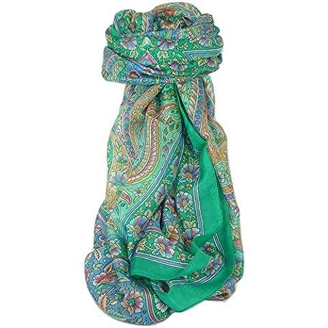 Classic Gamma Paisley Sciarpa Lunga 100% Seta di Gelso Modello Chia Jade da Pashmina & Silk