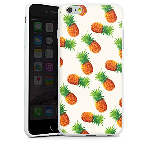 Apple iPhone X Silikon Hülle Case Schutzhülle Ananas Sommer 90er Silikon Case weiß