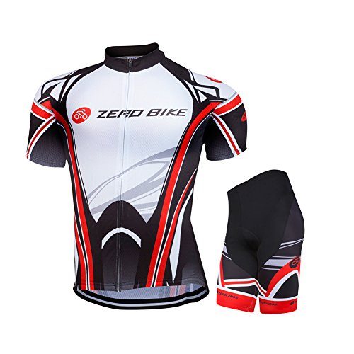 Reg Sportswear (ZEROBIKE® Herren Fahrrad kurze Hülse Trikot Set Kurzarm Trikot Fahrradbekleidung Fahrradtrikot Männer Trikot 3D Kissen gepolsterte Shorts Strumpfhosen Hosen Sportswear)