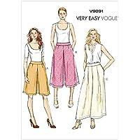 9d09aefc3c Vogue Patterns VV9091 - Cartamodelli per gonna pantalone e pantaloni da  donna, taglie A5 6